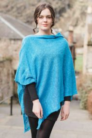 Royal Blue Linen Cape