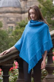 Royal Blue Linen Cape & Snood Set