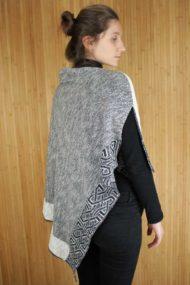 Silver Ballater Shawl - rear