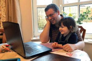 Jack & Maisie working from home