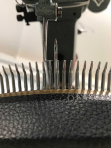 The needle on a linking machine