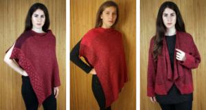 Our Bordeaux Wallace shawl, linen cape & Montrose jacket